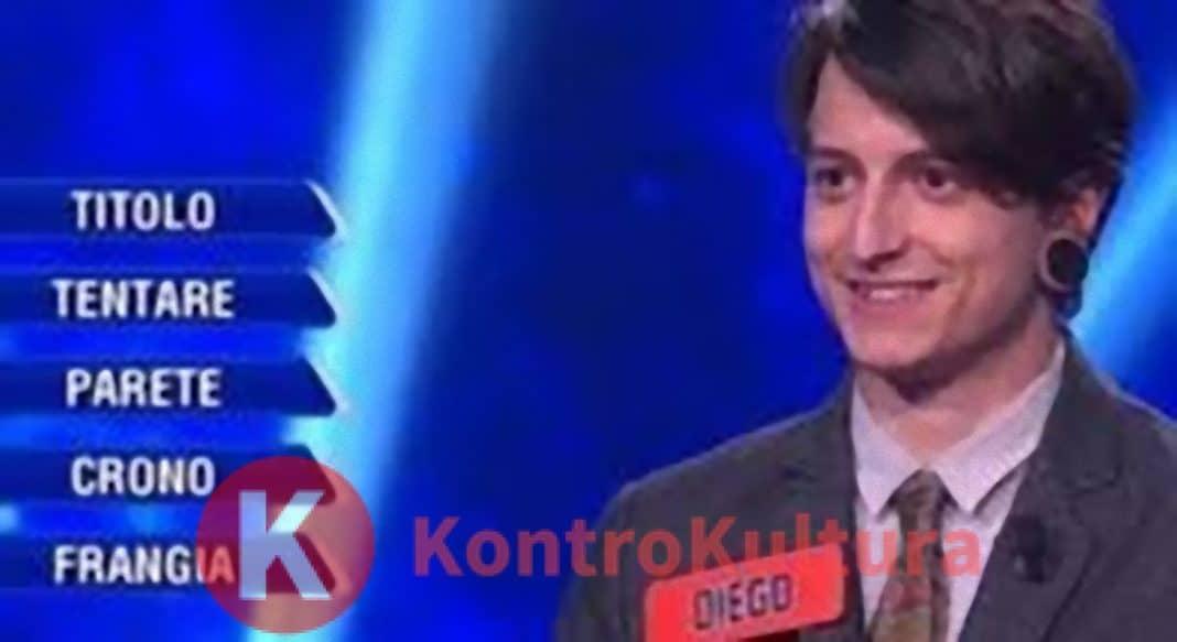L'Eredità, Diego Fanzaga in tv con la fidanzata gelosa: