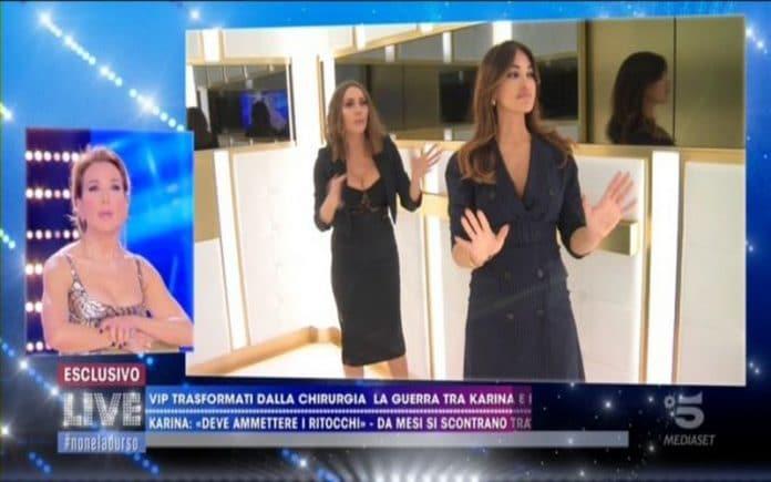 Karina Cascella e Rosa Perrotta, scontro in ascensore: 'Sei una serpe'