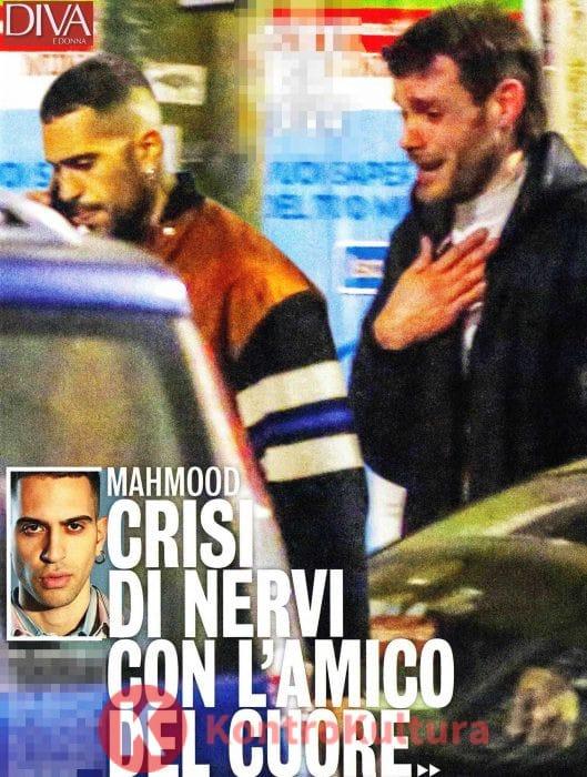 Mahmood litiga per strada col suo fidanzato Lorenzo, poi lui scoppia a piangere