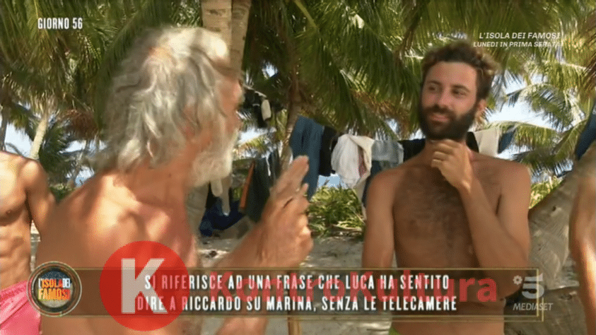 Isola dei Famosi, Riccardo Fogli insulta Luca Vismara: 'Sei un testa ...