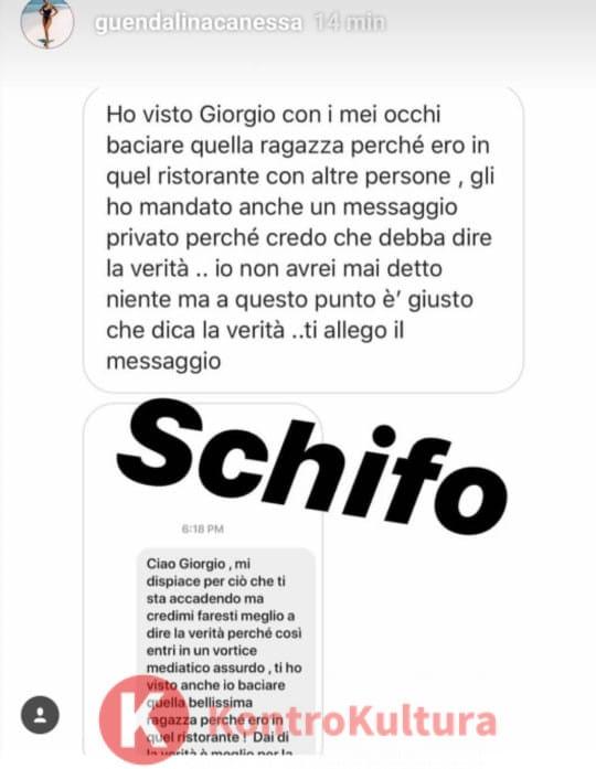Giorgio ha tradito Francesca De André