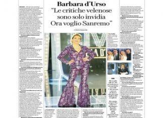 Barbara d'Urso verso Sanremo: 'Vorrebbero essere al posto mio'