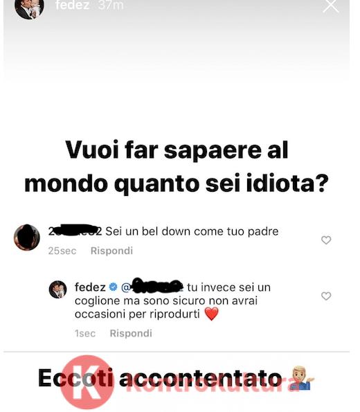 Fedez reagisce su Instagram agli haters che insultano il figlio Leone