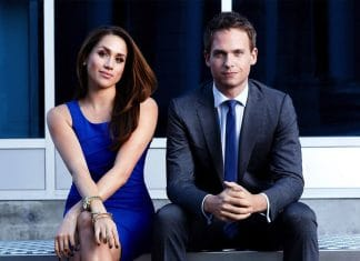 Meghan Markle nella serie tv Suits con Patrick J. Adams