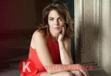 Claudia Gerini in abito rosso