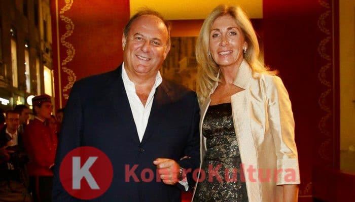 Gerry Scotti e la compagna Gabriella Perino