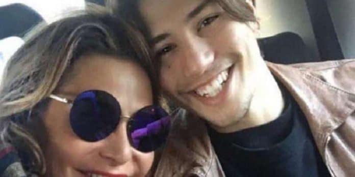 Simona Ventura e il figlio Niccolò Bettarini
