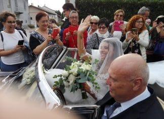 Cristina Chiabotto nel giorno del suo matrimonio