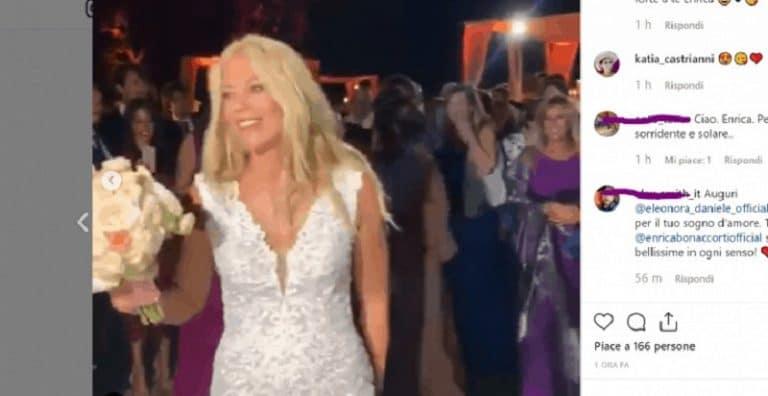 Eleonora Daniele si è sposata: cambio d'abito per i festeggiamenti (Foto)
