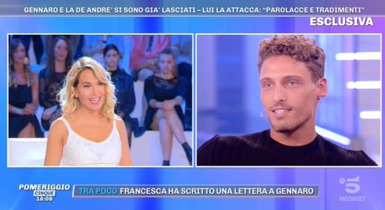 Gennaro Lillio a Pomeriggio Cinque: la verità su Francesca De Andrè e la frecciatina a Giorgio Tambellini