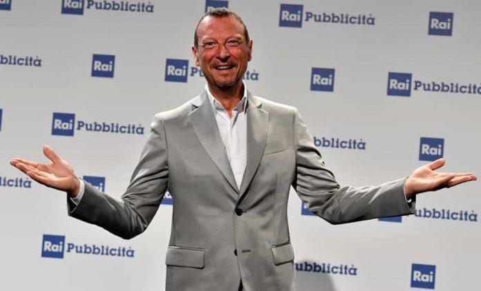 Amadeus alla presentazione del Festival di Sanremo 2020