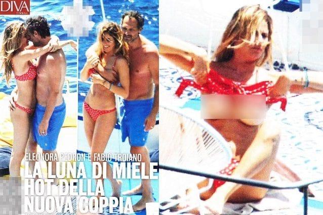 Eleonora Pedron topless in barca
