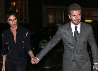 Victoria Beckham e David Beckham mano nella mano
