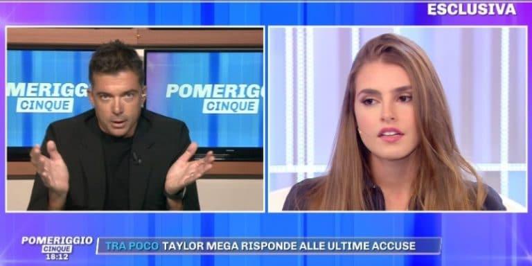 Pomeriggio Cinque, Alan Fiordelmondo contro Giorgia Caldarulo e Taylor Mega: 'Tutto finto, ho le prove'