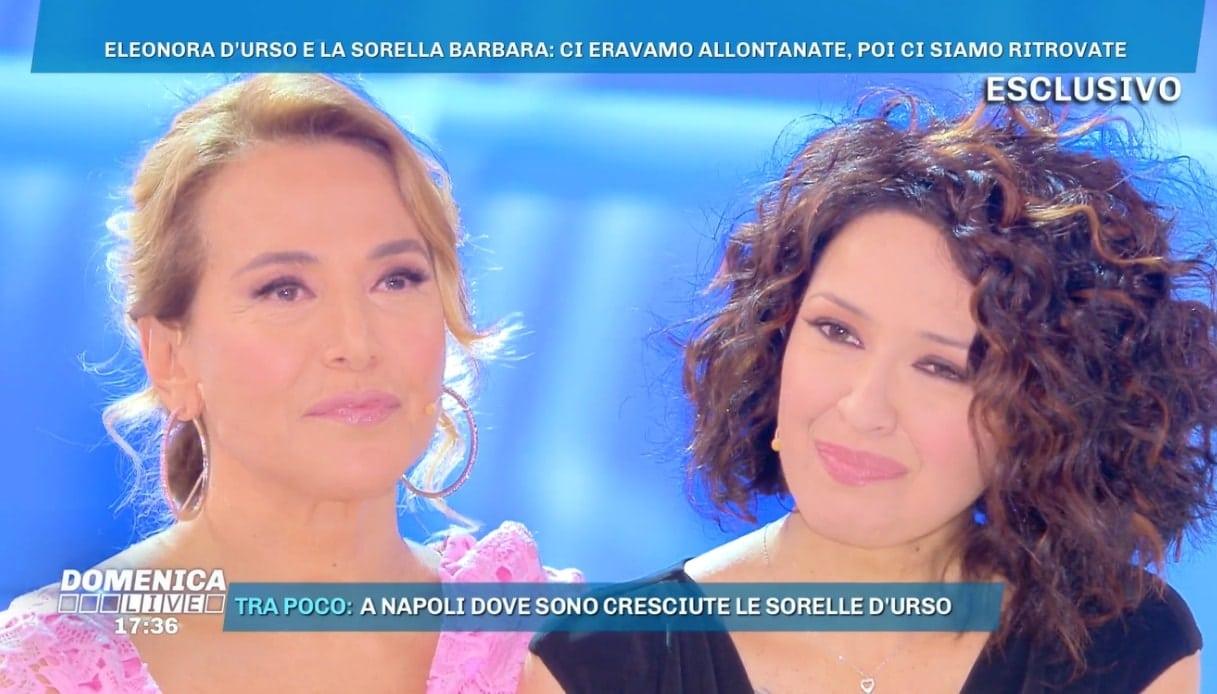 Barbara D'Urso e Eleonora a Dominica Live