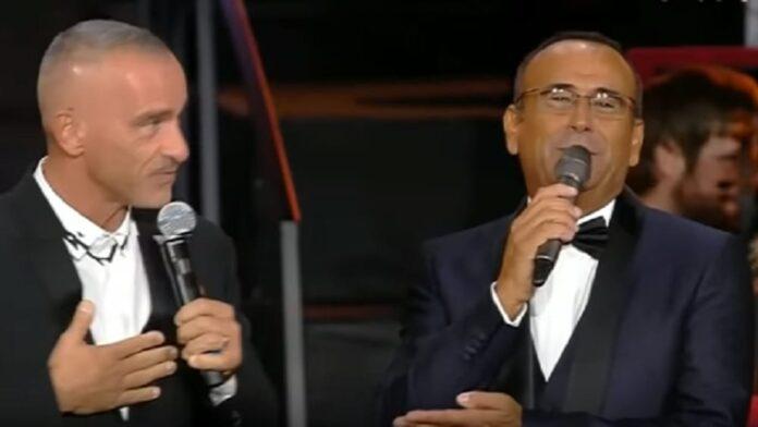 Eros Ramazzotti e Carlo Conti