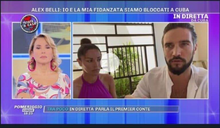 """Alex Belli e Delia Duran bloccati a Cuba a causa del coronavirus: """"Non riusciamo a tornare in Italia"""""""