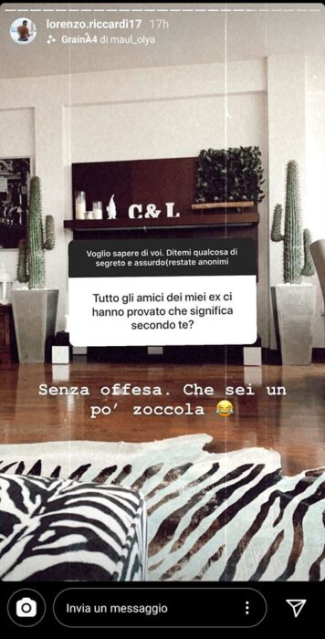 Lorenzo Riccardi contro una fan