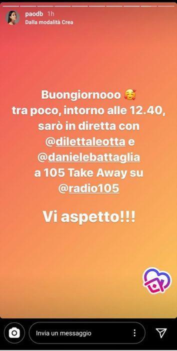 Paola Di Benedetto su Instagram
