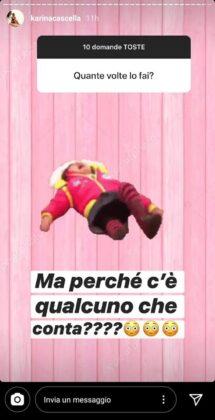 Karina Cascella domande piccanti
