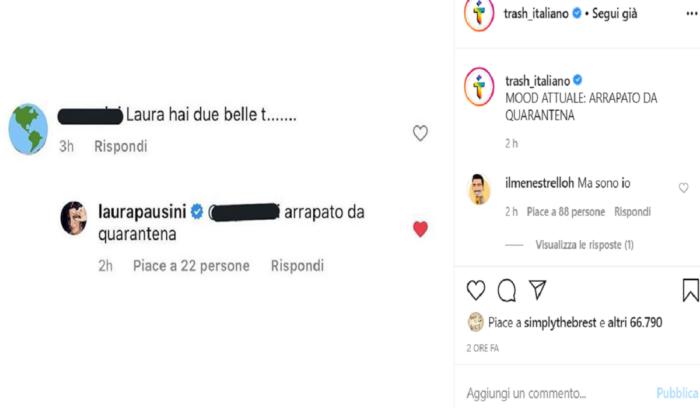 """Laura Pausini, il complimento di un fan, """"Hai delle belle te"""