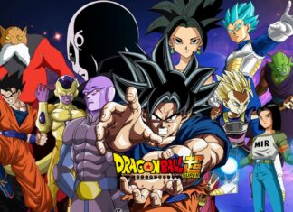 Goku e gli altri personaggi principali di Dragon Ball Super