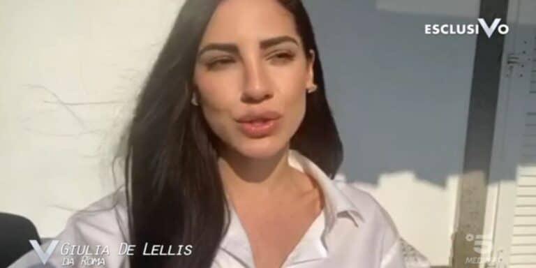 """Giulia De Lellis a Verissimo: """"Cerco il bello nel brutto. Mi dedico agli affetti che avevo perso"""""""