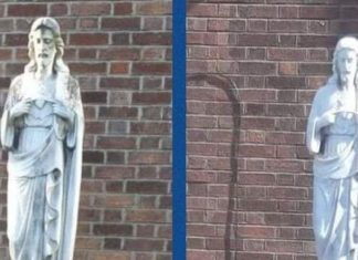 Statua di Maria - statua di Gesù