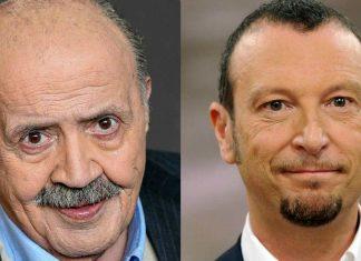 Amadeus e Maurizio Costanzo