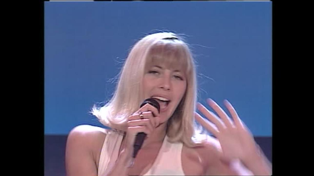 Cristina Quaranta all'inizio della carriera a Non è la Rai
