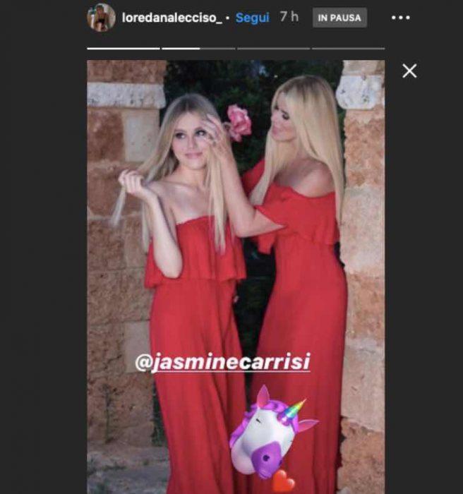 Jasmine Carrisi come Loredana Lecciso |  la foto con la figlia toglie ogni dubbio