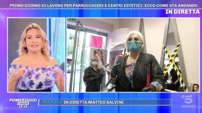 Pomeriggio Cinque, Barbara D'Urso e Lucia Bramieri