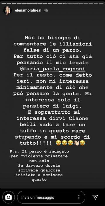 La risposta di Elena Morali