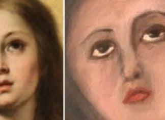 Restaurazione del dipinto della Vergine
