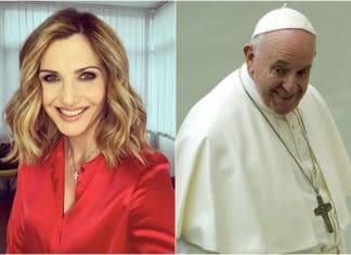 Lorella Cuccarini e Papa Francesco