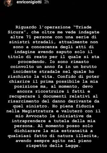 Storia su IG di Enrico Nigiotti