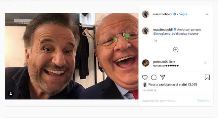 Christian de Sica post con Boldi