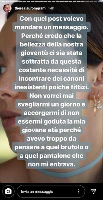 Il post di Aurora Ramazzotti