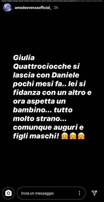 Giulia Quattrociocche è incinta