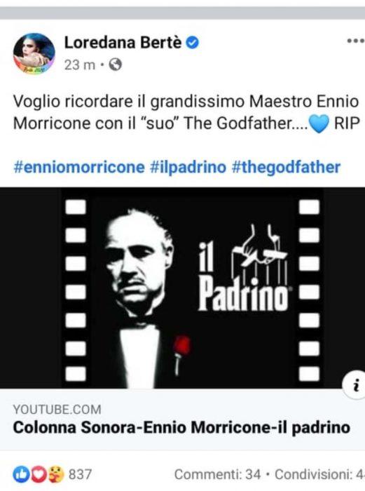 Loredana Bertè omaggia Ennio Morricone ma sbaglia, il web in