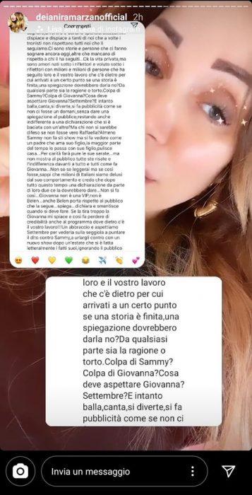 Raffaella Mennoia contro Sammy e Giovanna