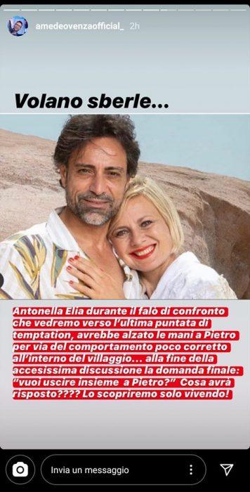 Antonella Elia picchia Pietro