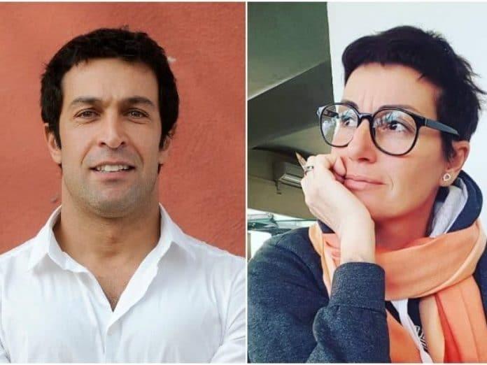 Cristina Plevani e Pietro Taricone