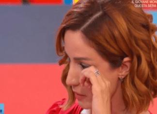 Andrea Delogu in lacrime