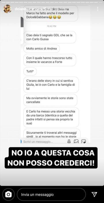 """Giulia De Lellis ha tradito Andrea con un suo amico? """"Hanno cancellato le Stories"""" (FOTO)"""