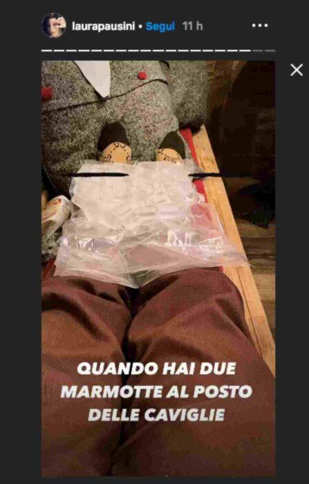 Laura Pausini post caviglie