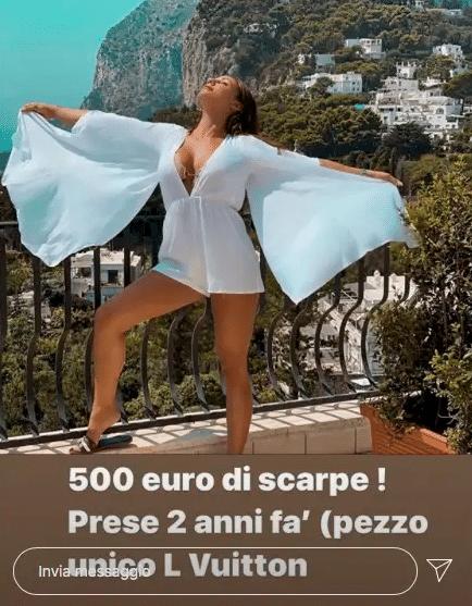 Screen su IG da parte di Selvaggia Roma
