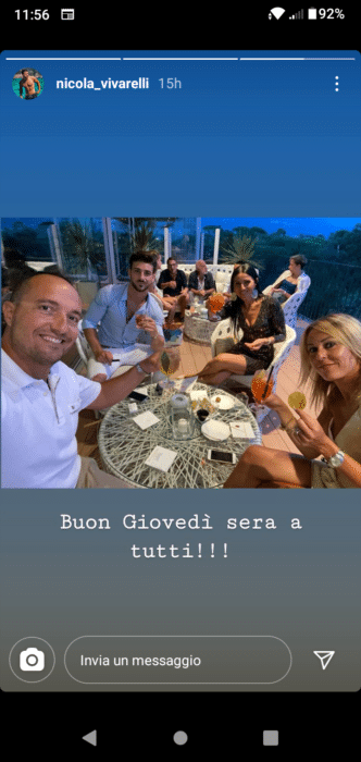 Nicola Vivarelli e la sua nuova fiamma