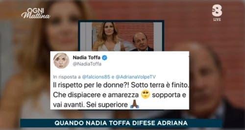 Adriana Volpe menziona Nadia Toffa a Ogni Mattina per colpire Magalli