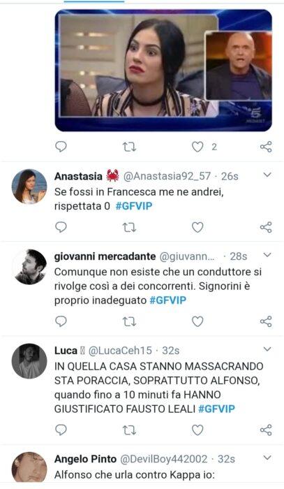 Alfonso Signorini contro Franceska Pepe